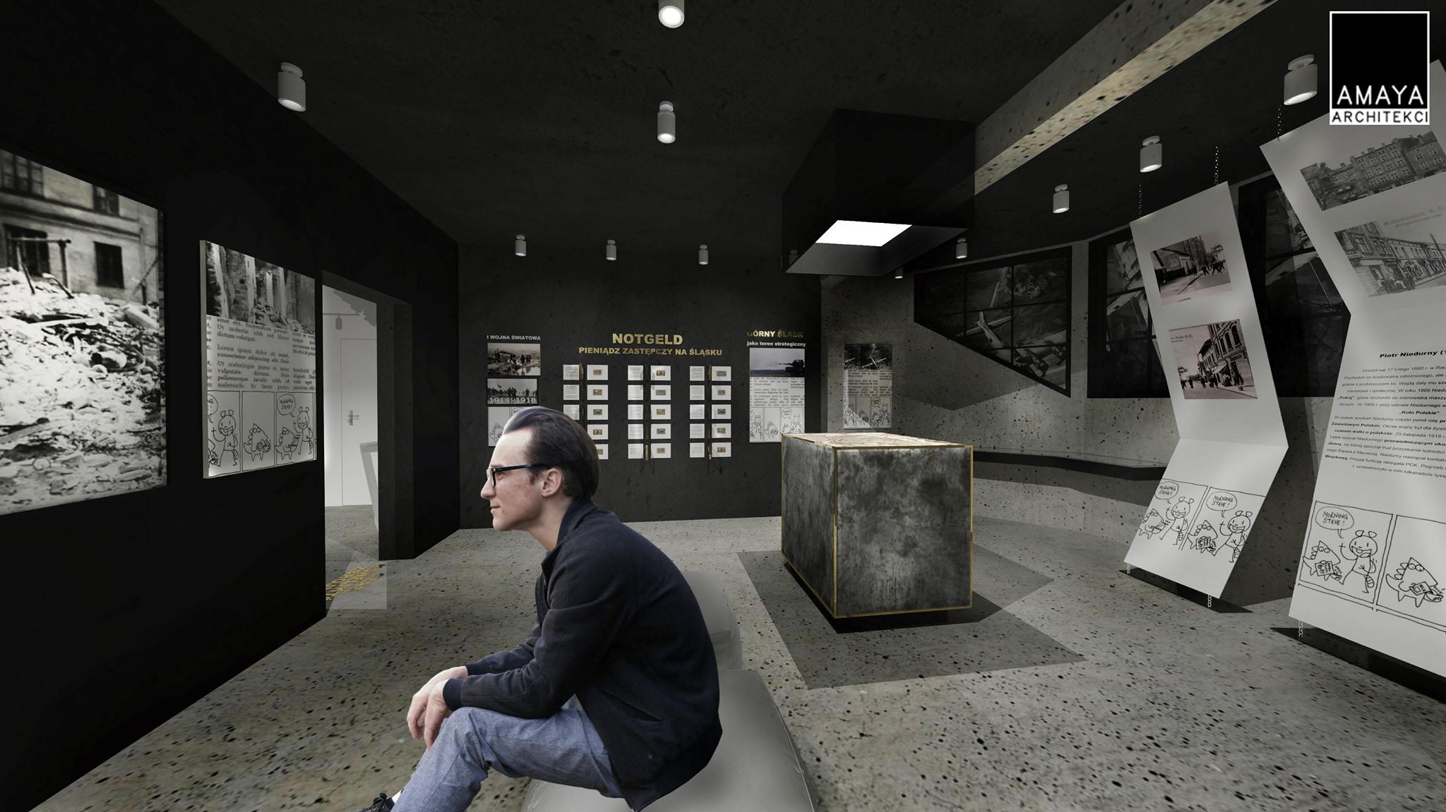 Wizualizacja wnętrza muzeum miejskiego