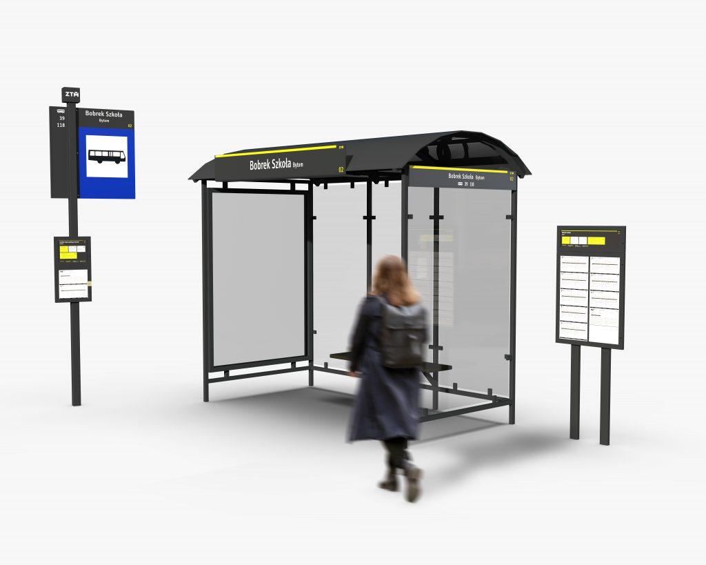 System informacji wizualnej dla transportu miejskiego ZTM