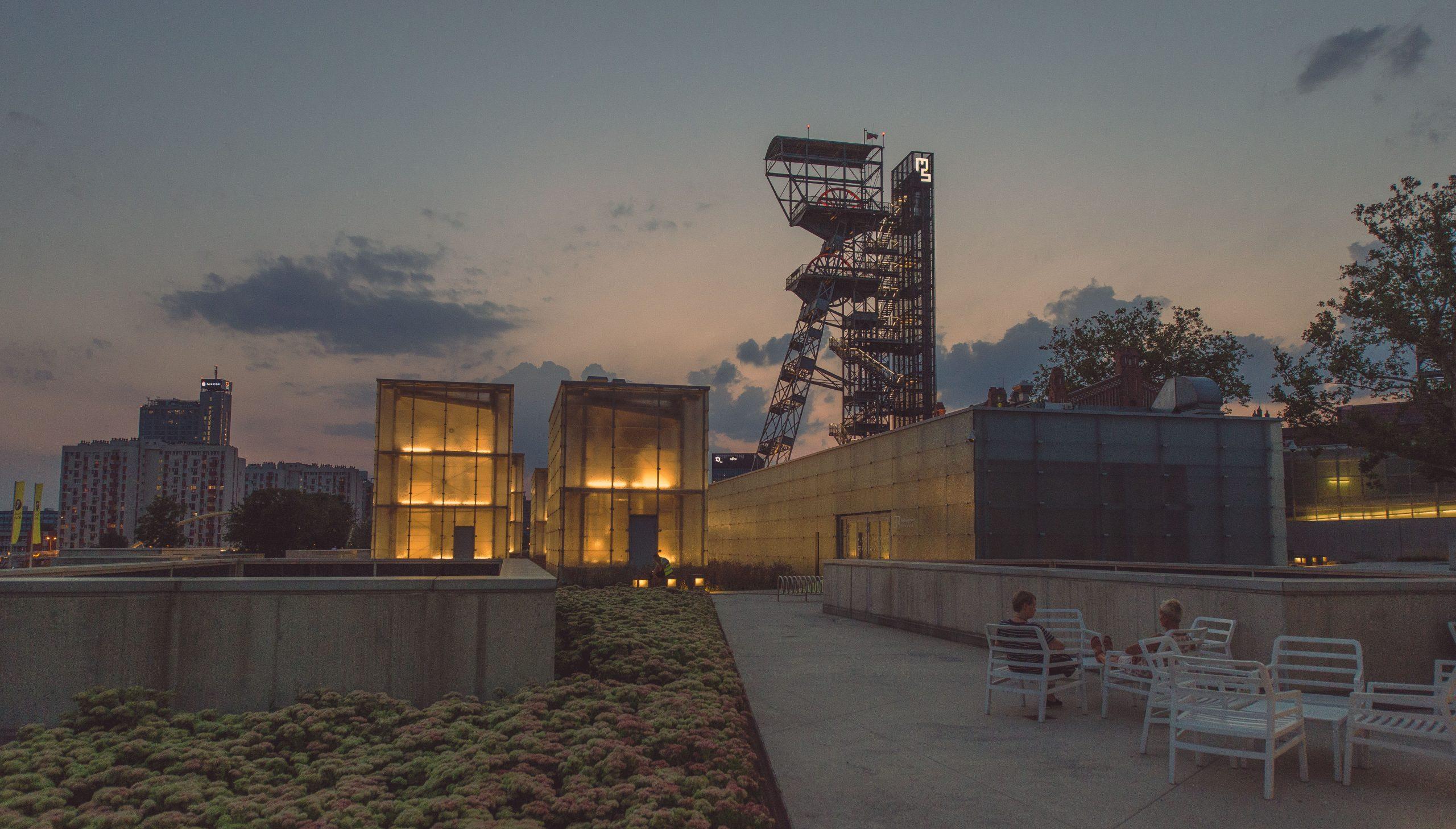 Szyb kopalniany w Katowicach