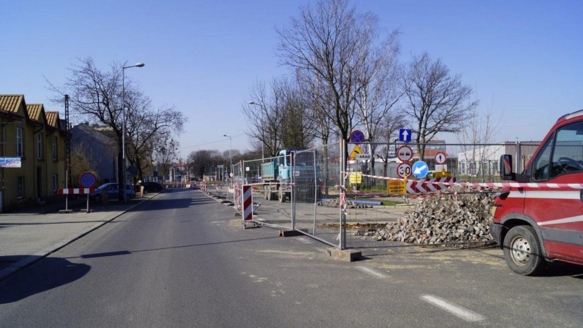 Prace budowlane na ul. Tarnogórskiej