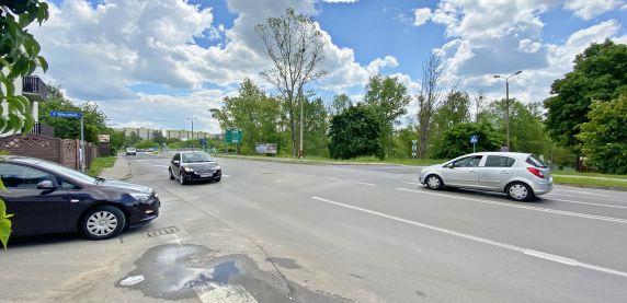 Skrzyżowanie ulic Prusa i Norwida w