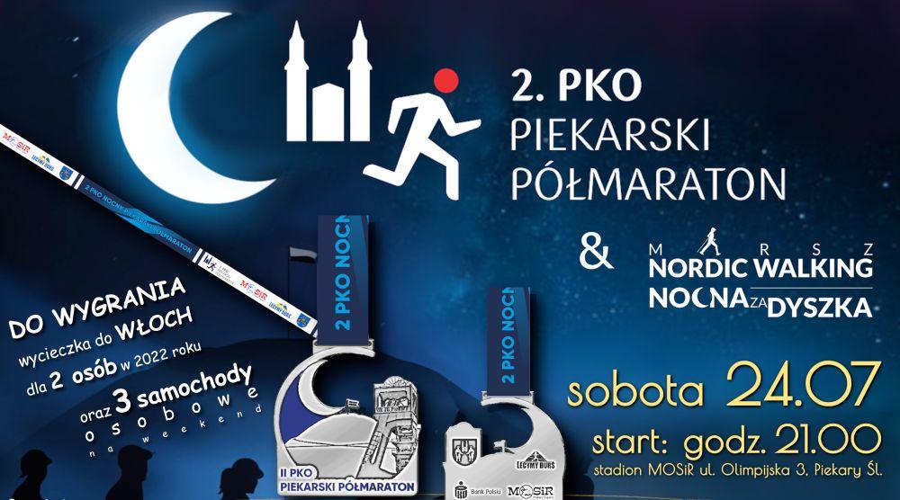 Plakat zapraszający do udziału w półmaratonie