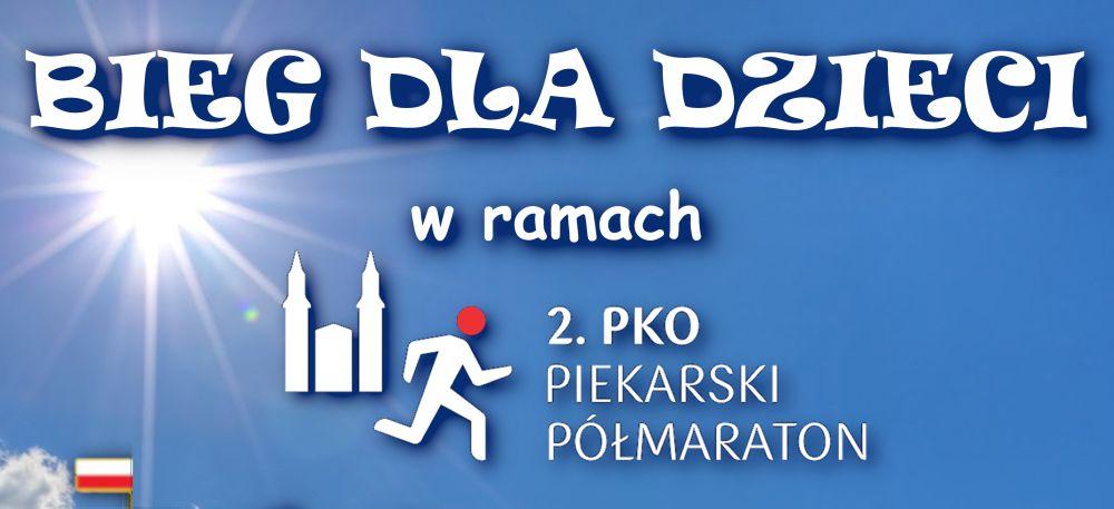 Plakat zapraszający do udziału w półmaratonie piekarskim