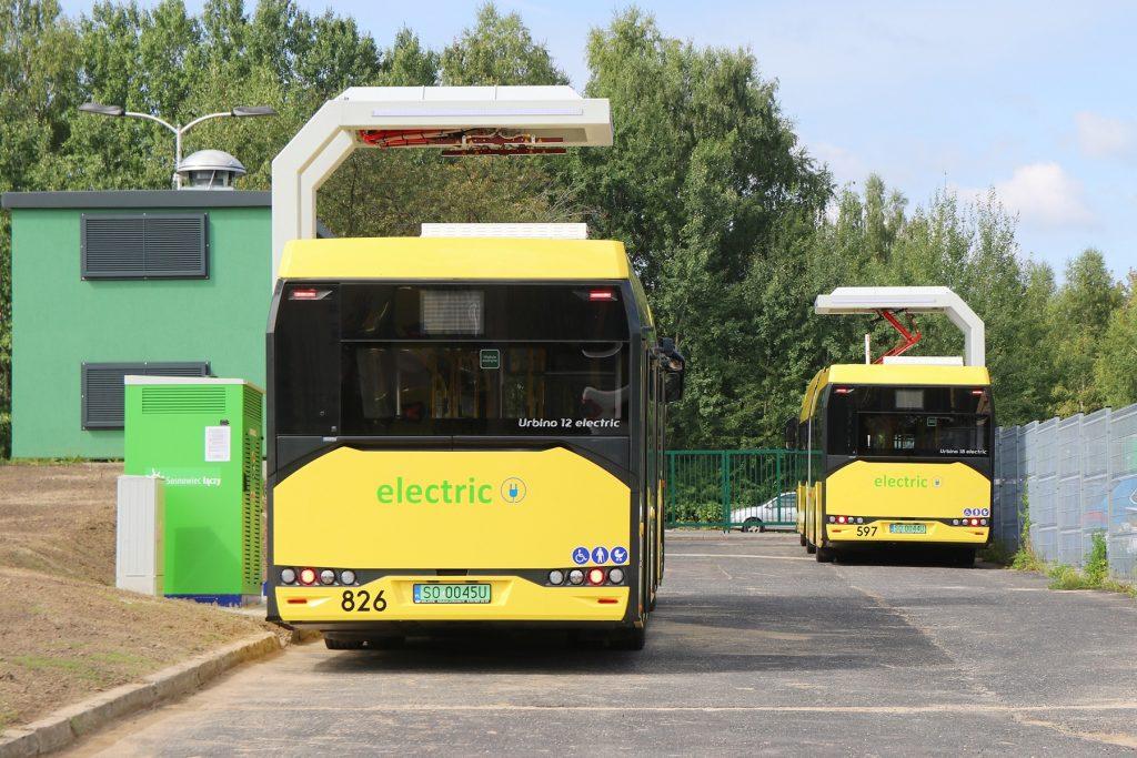 Ładowanie autobusów elektrycznych PKM Sosnowiec