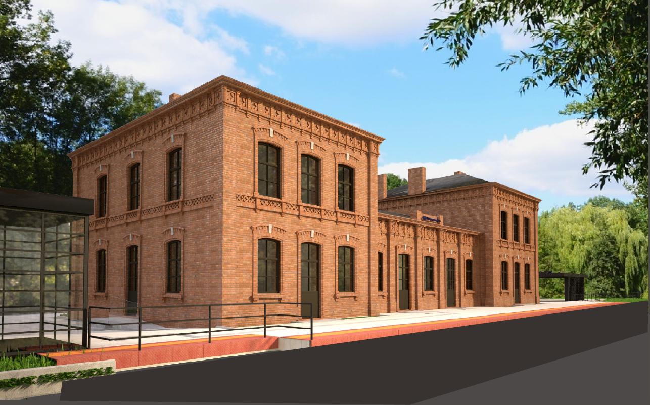 Na zdjęciu wizualizacja przebudowanego budynku dworca.