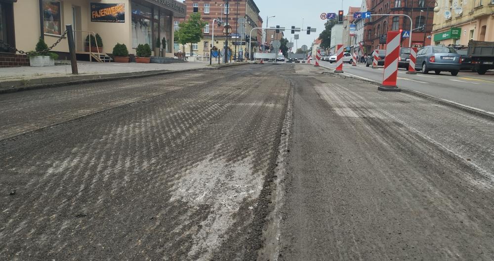 Ulica Bytomska w remoncie